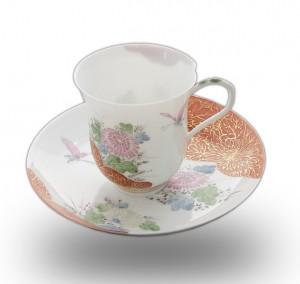卵殻手コーヒー碗皿2